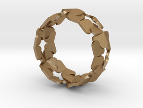 Bracelet by Andreas Fornemark in Matte Gold Steel
