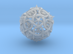 Thorn d20 Ornament in Smooth Fine Detail Plastic
