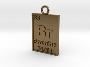 Bromine Periodic Table Pendant in Natural Bronze