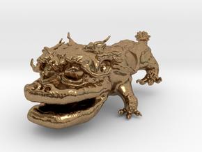 Dragon Dog v01 6cm in Natural Brass