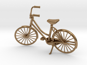 Miniature Vintage Bicycle (1:24) in Raw Brass