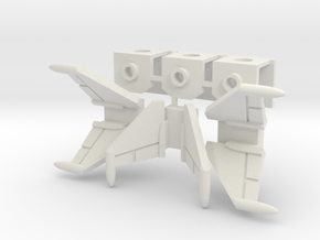 Cockpit Trio with Wings (v3) in White Natural Versatile Plastic
