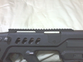 Extended Top Rail for AIRSOFT TOY Ares TAR-21 in Black Natural Versatile Plastic