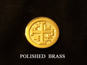Goonies Style Pirate Coin in Polished Brass
