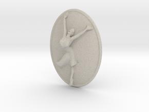 Joyful Dancer Small Pendant No Circle in Natural Sandstone
