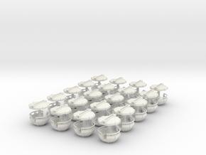 Gondeln für Faller140312 - 1:87 (H0 scale) in White Natural Versatile Plastic