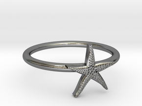 World's Best Starfish Midi Ring in Polished Silver