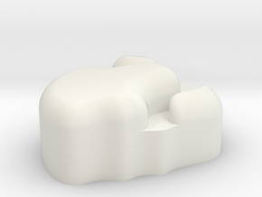 Small Asteriod #1 in White Natural Versatile Plastic