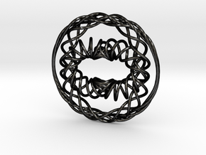 Interwoven Pendant in Matte Black Steel