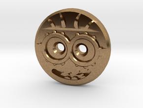 Minion Shirt Button in Natural Brass