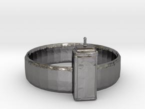 Tardis Ring in Polished Nickel Steel