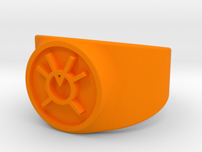 Orange Avarice GL Ring (Szs 5-15) in Orange Processed Versatile Plastic