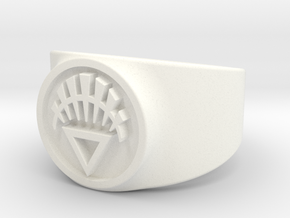 White Life GL Ring (Sz's 5-15) in White Processed Versatile Plastic
