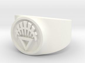 White Life GL Ring (Sz's 5-15) in White Processed Versatile Plastic