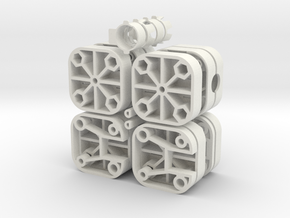 Printen Doosjes USB DIS5 in White Natural Versatile Plastic