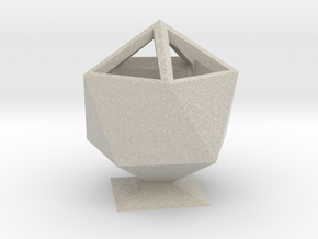 Icosahedron Pencil Cup in Sandstone