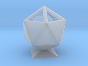 Icosahedron Pencil Cup in Smooth Fine Detail Plastic