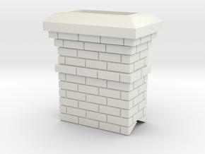 Chimney in White Natural Versatile Plastic