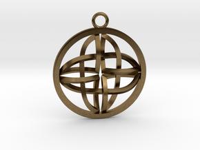 Celtic Cross Pendant in Natural Bronze