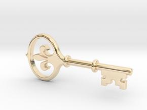 Kappa Key Pendant in 14K Yellow Gold