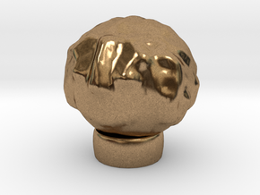 Sculptris Head With Hair On Tinkercad Ring in Natural Brass
