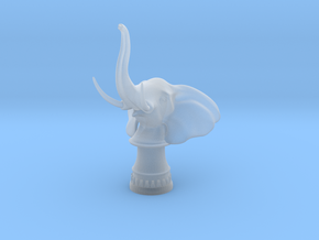 Elephant Rook (Round Base) in Smooth Fine Detail Plastic