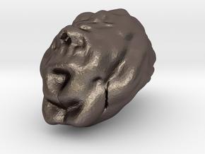 Sculptris Brain in Polished Bronzed Silver Steel