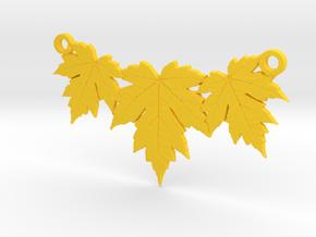 Maple Leaf Necklace in Yellow Processed Versatile Plastic