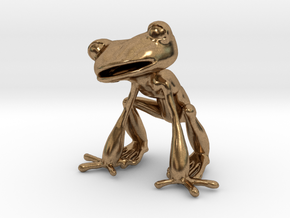 Frog in Natural Brass