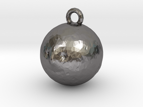 Mr Moon Pendant in Polished Nickel Steel