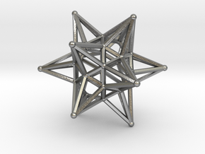 Dodeca Star Wire - 4cm in Natural Silver
