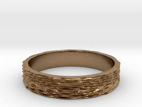 Wave of Energy Ring Size 7 in Natural Brass