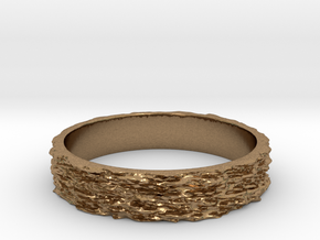 Hyperloop Ring Size 7 in Natural Brass