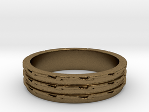 Greater Than Three Ring Size 7 in Natural Bronze