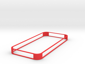 IPhone-5 bumper in Red Strong & Flexible Polished