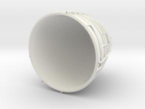 1/72 Scale Space Shuttle SSME in White Natural Versatile Plastic