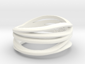 Love By Mary Gamby Ring Size 8 in White Processed Versatile Plastic