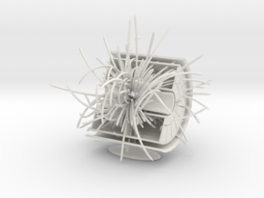 CERN ALICE TPC & PbPb collision in 3D in White Natural Versatile Plastic