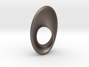 Mobius Oval 16x23mm in Polished Bronzed Silver Steel