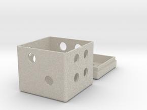Dice Box in Sandstone