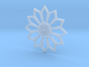 Moroccan Flower Pendant in Smooth Fine Detail Plastic