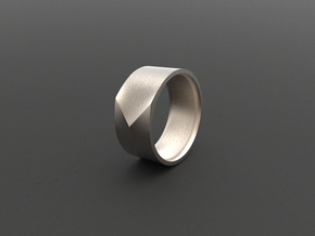 """ARROW""_Men ring in Polished Bronzed Silver Steel"