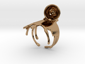 Spilled-Tea Ring Size 6 in Polished Brass