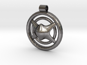 Cosmic Intake Pendant in Polished Nickel Steel