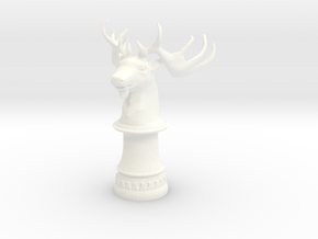 Wild Elk Knight (Round Base) in White Processed Versatile Plastic