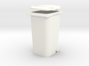 TRASHCAN in White Strong & Flexible Polished