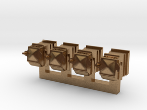 NZR 1:34 (9mm:1ft) scale Axleboxes for x7781 in Natural Brass