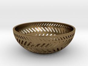 Backslash Bowl in Natural Bronze