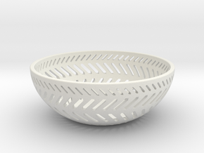 Backslash Bowl in White Natural Versatile Plastic