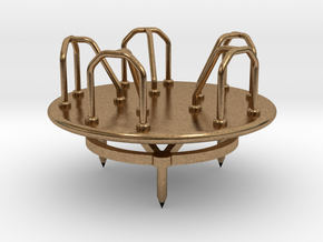 Children's Merry-go-Round, HO Scale (1:87) in Natural Brass